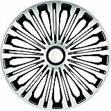 ZentimeX Z733019 Radkappen Radzierblenden universal 17 Zoll silver-black