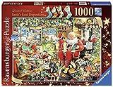 Ce puzzle idéal pour les périodes de fêtes met en scène le Père Noël et la Mère Noël dans leur atelier du Pôle Nord. Autour d'eux, une demi-douzaine de lutins s'activent car nous sommes le 24 décembre et il ne reste plus beaucoup de temps avant la gr...
