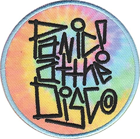 PANIC! AT THE DISCO TIE DYE, Officially Licensed, Iron-On / Sew-On, Embroidered PATCH - 3