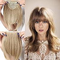 Elailite Frangetta Finta Capelli Clip Frangia Frontale Extension Fascia Unica Hair Bang Corti Lisci Posticci Fringe…