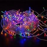 WISD Guirlande Lumineuse LED De Décoration en Coloré Pour Noël Mariage Jardin Partie,12.8m 100 LED Lumineuse avec 8 modes de fonction EU Plug - Coloré...