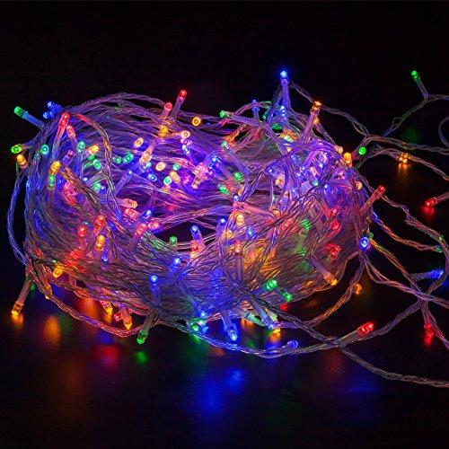 Stringa fata luce wisd catena luci a led luminoso natalizia 11.5m 100 led luce lucciole, alimentazione a batteria, catena luci led per la decorazione casa matrimonio natale partito - multicolor colori