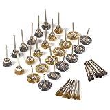 Set di Spazzole metalliche da 36 pezzi, Mini Spazzola in Setola a Disco Tazza Pennello, Acciaio Ottone Pulizia Cup…