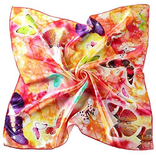 Echarpe En Soie De Mode Pour Femme Jacquard Design Square Shawl 07