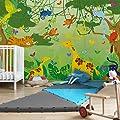 Kinderzimmer Tapeten - Vliestapeten Premium - No.IS87 Dschungelspiel - Fototapete Breit, Vlies, Vliesfototapete, Wandtapete, Wandbild