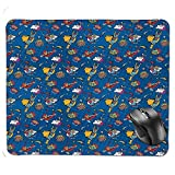 J5E7JYTE Quality Selection Comfortable Mouse Pad,Flying Superhumans Male Female Super Heroine Fiction Comics Graphic Decorative Mouse Pad