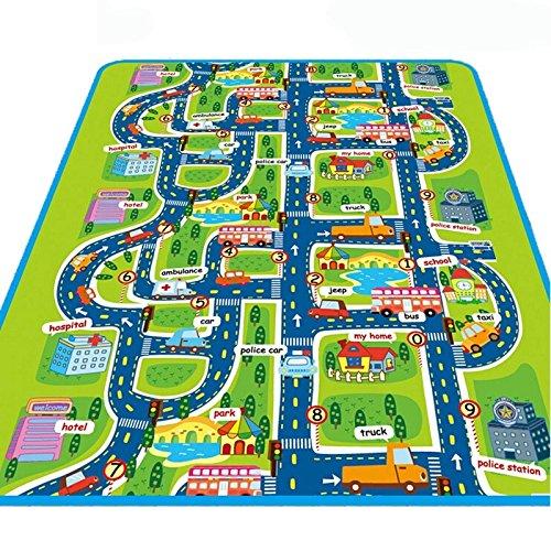 Espeedy Kinder Baby Kinder Spielzeug Teppich Stadt Straße Teppiche Teppich Puzzle Spiel Matte...