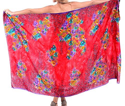 Kleid Bademode Badebekleidung Badeanzug Wrap Badeanzug Schal Rock-Bikini-Vertuschung Rot