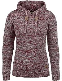 DESIRES Philla Damen Strickpullover mit Kapuze aus hochwertiger 100% Baumwolle Meliert