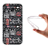 Funda Samsung Galaxy A5 2017, WoowCase [ Samsung Galaxy A5 2017 ] Funda Silicona Gel Flexible Simbolos Londres Inglaterra, Carcasa Case TPU Silicona - Transparente