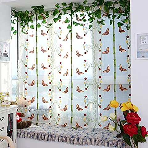 Demiawaking Home Decorating Window Curtain Light Filtering