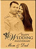 #8: Incredible Gifts India Personalized Wedding Anniversary Gift - Engraved Photo Plaque (7 Inches X 5 Inches)