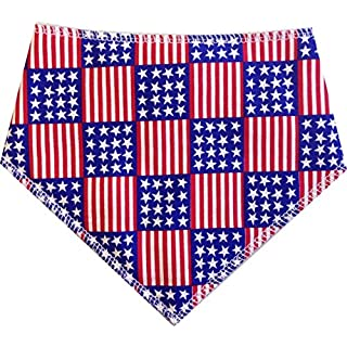 Spoilt Rotten Pets (S3) American Flag Bandana. Medium Size Generally Fits Springer Spaniel and Beagle Sized Dogs. Neck Size 17