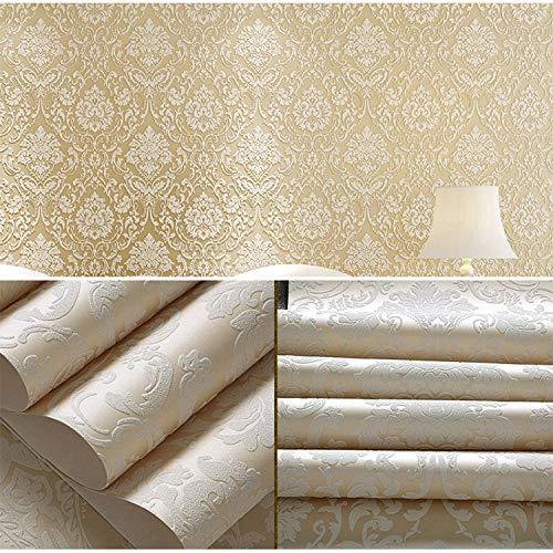 Pastorale selbstklebende tapete schlafzimmer dicke wasserdichte tapete wohnzimmer tv hintergrund wandaufkleber 0,53 mt * 3 mt beige