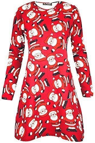 Oops Outlet - Robe - Femme Winkendes Santa Rot