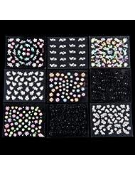 50 x Feuille De Sticker Multicolore Nail Art Manucure
