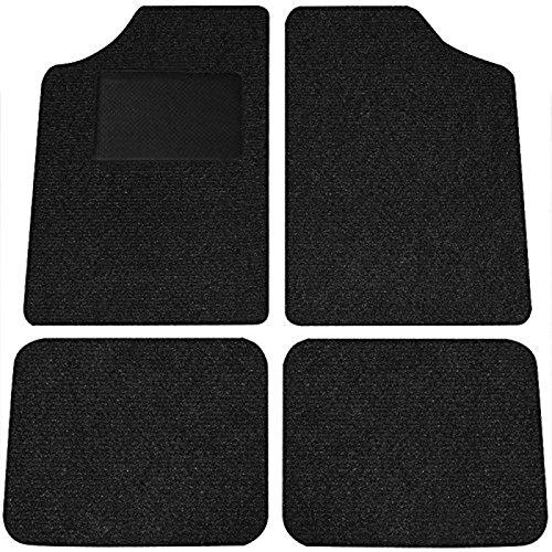 SIDCO ® Fußmatten universal Automatten 4-teilig Velours Matten Autoteppich Trittschutz