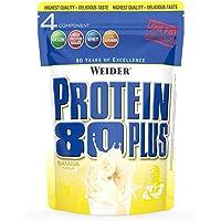 Weider Protein 80 Plus Eiweißpulver, Banane, Low-Carb, Mehrkomponenten Casein Whey Mix für Proteinshakes, 2kg