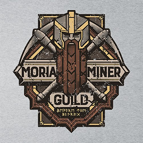 Lord Of The Rings Moria Miner Guild Women's Vest Heather Grey