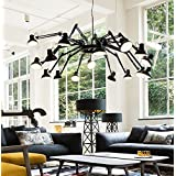 Innovadora plancha retráctil araña araña de luces LED blanco,16,luz cálida
