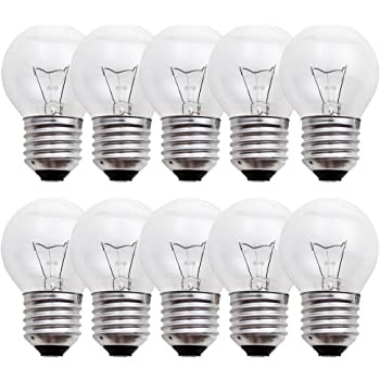 Glühlampen 40W E27-10 x 40 Watt Tropfen Lampe klar Glühbirne