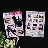 DingLong 2 Stücke Frauen Katze Linie Pro Augen Make-Up-Tool Eyeliner Schablonen Vorlage Former Modell