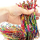 Zerama 10 PCS Hecho a Mano de Hilo Tejida Cuerdas de la Amistad del Hippie para el Tobillo Pulsera Pulsera de la Trenza de Cables de Colorido