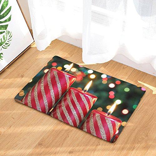 Weihnachten Teppich Hause rutschfeste Tür Boden rutschfeste Matten Hall Teppiche Küche Bad Teppich Dekor Teppichunterleger Kinderteppiche (Multicolor 40 * 60 cm)
