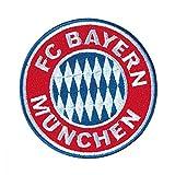 München FC Bayern Aufnäher, Patch, Aufbügler Logo Ø 8 cm FCB - Plus Gratis Lesezeichen I Love