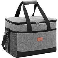 33L Doux Sac Isotherme Dur Liner, Grand Pique-Nique isolé Lunch Bag Boîte-Sided Sac Souple de Refroidissement pour Le…