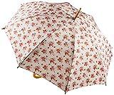 Sass und Belle Stoff Pongee/Holz/Metall Design Floral Lady Antoinette Regenschirm, Mehrfarbig