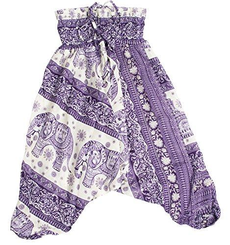 Lofbaz Niño Niña Bebé Harem Aladdin Elefante Pantalones Especiales Bohemia Hippie Azul Oscuro Tamaño 18M