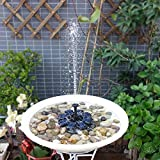 Garden Decor Solar Energy Fountain Pump ABS Plastic Floating Water Flower Automation 8V 1.6W Panel Kit