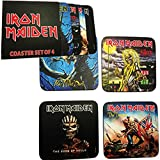 for-collectors-only Iron Maiden Untersetzer Set 4er Pack Coaster Bierdeckel Coasters Set Book of Souls