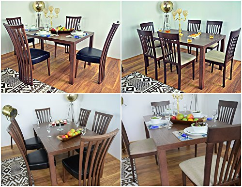 Kitchen Table Set For Dinner To Dining Table And 46 Chairs Bench Solid Wood Set Dinner Kitchen