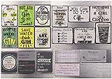 18 verschiedene Magnete lustige Sprüche Coffee Shoppen Schuhe Gin Wochenende Deutsch Englisch