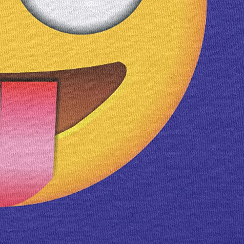 TEXLAB - Tongue out Emoji - Herren T-Shirt Marine