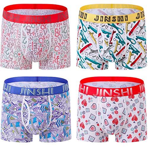 JINSHI Unterhosen Herren Leichte Unterwäsche für Männer Luftig im Vorteilspack 4er Pack XL -