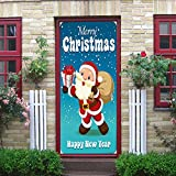 WL Wandaufkleber Weihnachten Wandaufkleber Weihnachtsmann 3D Kunst Aufkleber Szene Dekorieren Wandmalerei Fenster Aufkleber Fenster Statische PVC Aufkleber 38 * 200 cm