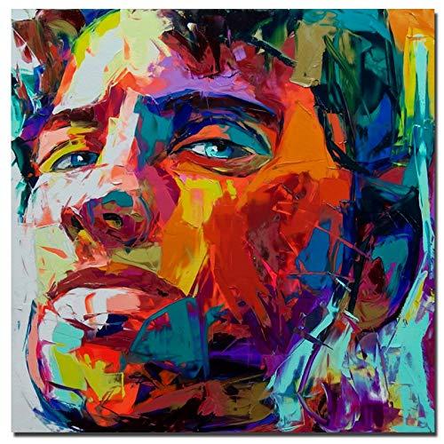 JNZART Hervorragende Künstlerin Nielly Francoise Porträt Ölgemälde Replikatdruck auf Leinwand für Wohnzimmer Anpassen Ölgemälde Wandkunst 50X50CM