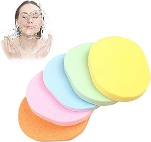Spugna naturale con alghe spessa, spugna professionale per la rimozione del trucco, per una pulizia profonda dei punti neri, per lavare del viso, usabile sia asciutta che bagnata