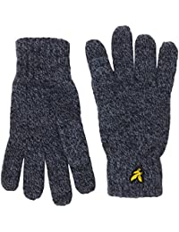 Lyle & Scott Men's Mouline Gloves, Blue (Dark Navy), One Size