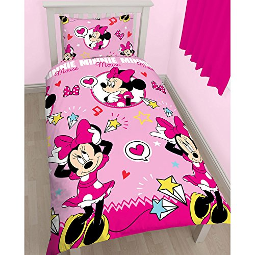 Disney Minnie Mouse Estilo giratorio Impresión edredón, poliéster, multicolor, Single