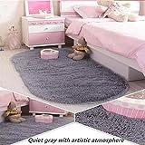 ZPL Rutschfeste runde Shaggy Bereich Teppiche und weichen Schlafzimmer-Teppich , 1 , 60*160cm