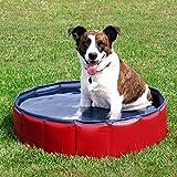 Jamicy NEU Faltbarer Hunde Pool, Hunde Planschbecken, Schwimmbad Doggy Pool, Haustier Bad Garten Wasserspiel Outdoor Spaß, Outdoor Reisen Haustier Baden Planschbecken für Hunde Katzen Kinder (M (50*20cm))