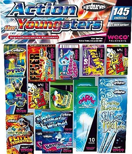 Jugendfeuerwerk Sortiment Action for Youngsters 145 Einzelteile ab 12 Jahren