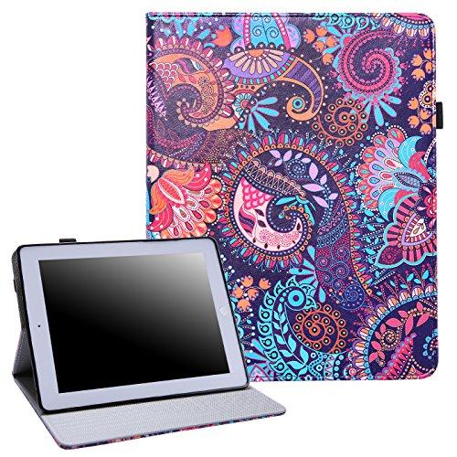 HDE HDE-51321 Tablet-Schutzhülle, Apple-iPad-2017 Apple-iPad-Air-1 Apple-iPad-Air-2, Purple Paisley Paisley Designer
