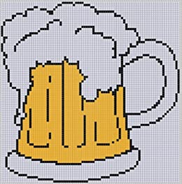 Beer Stein Cross Stitch Pattern by [Mother Bee Designs]