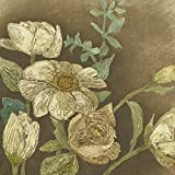 Artland Qualitätsbilder I Alu Dibond Bilder Alu Art 80 x 80 cm Stillleben Arrangements Botanik Spachteltechnik Braun C2JF Antiker Strauß I