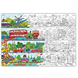 Colorazioni per i bambini Autopark. Disegni da colorare per i bambini e per gli adulti. Colorami poster per la famiglia Dimensione. Grande poster gigantesco da colorare!